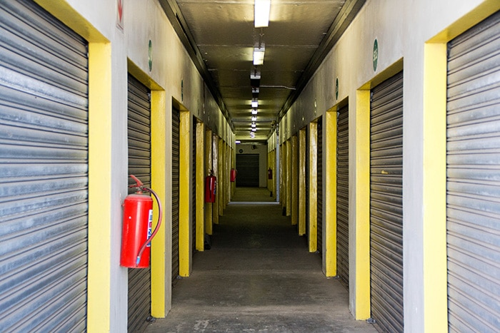 Secure inside storage units